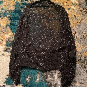 Lucky Brand Black Print Shawl